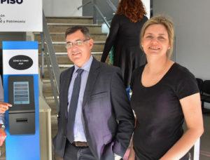 Pablo Antonetti, junto a la subsecretaria de Hacienda, Subsecretaria de Hacienda, Irina Terzaghi