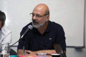 Jorge Conalbi, presidente de DYPRA. Periodistas del medio Redacción, Alta Gracia, Córdoba.